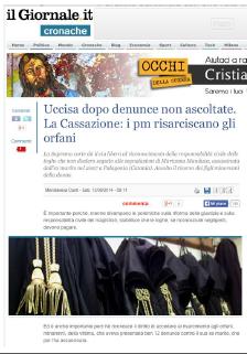 Marianna Manduca - Uccisa dopo denunce non ascoltate. La Cassazione: I pm risarciscano gli orfani. - Studio Legale Galasso
