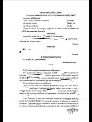 Decreto del Tribunale Civile di Palermo - 13.04.2015