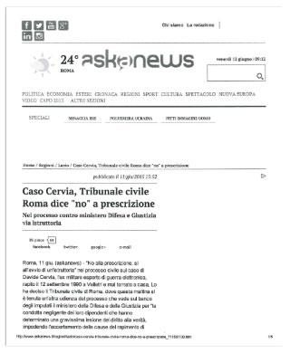 Scarica articolo di Askanews in pdf