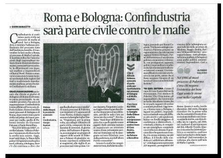 Articolo Roma e Bologna