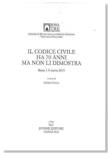 Il codice civile ha 70 anni