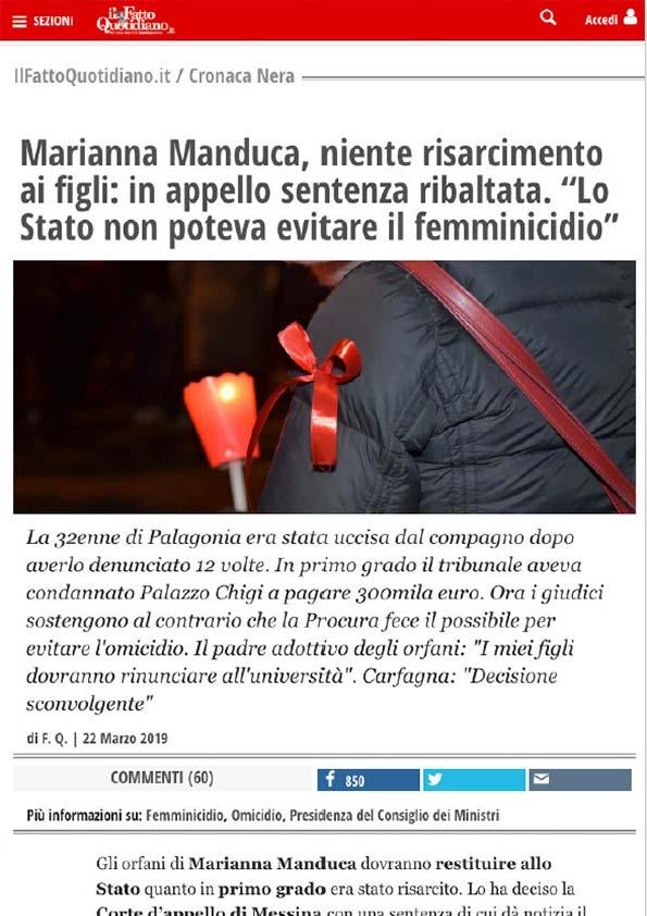 Articolo-Il-Fatto-Quotidianno-Sentenza-Marianna-Manduca