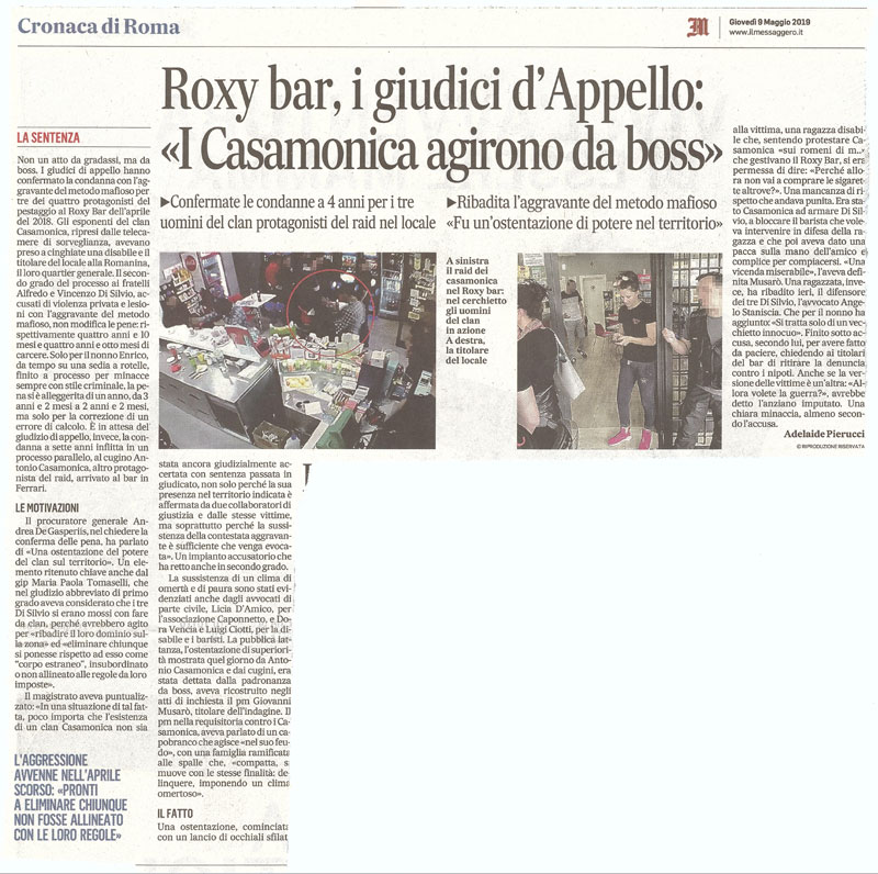 pestaggio roxy bar appello