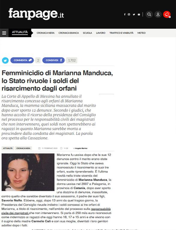 Marianna Manduca Articolo Fanpage
