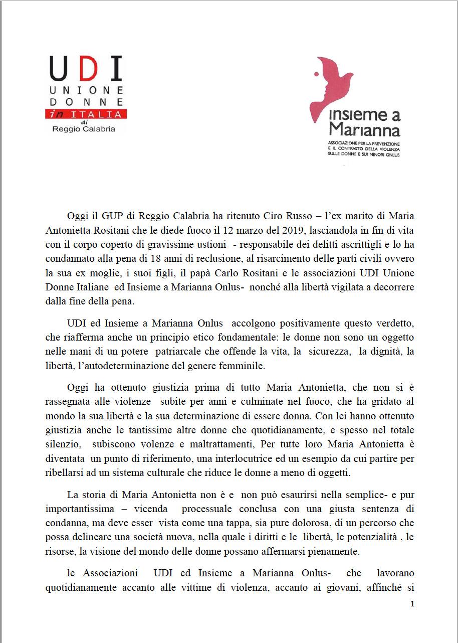 18-anni-di-carcere-al-carnefice-di-Maria-Antonietta-Rositani