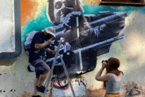 Beetrot ha terminato il murale