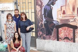 Licia D'Amico, La famiglia Cervia e il murale di Gara